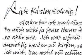 Briefe von Peter Gericke